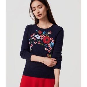 Loft Sweater - Size Medium - Floral Design - NWOT